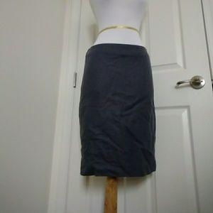 Wool j crew pencil skirt